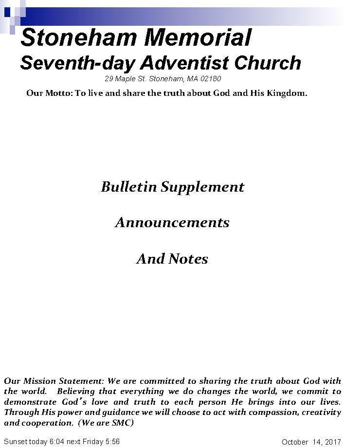 Cover Bulletin 10.14.17