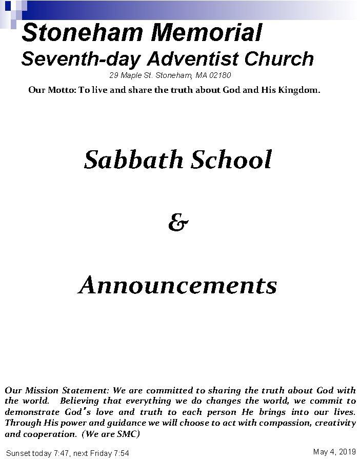 Cover Bulletin 5.4.19