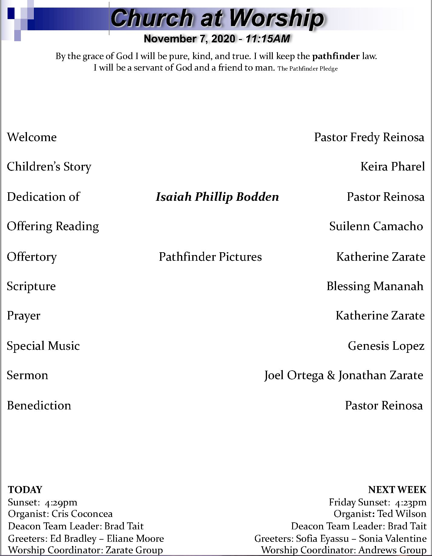 Cover Bulletin 11.7.20